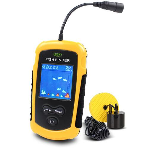 Alarm 100M Portable Sonar LCD Fish Finders