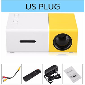 Mini YG300 LCD Projector 400 - 600 Lumens 320 x 240 Pixels 3.5mm Audio/HDMI/USB/SD Inputs Media Proyector/Beamer