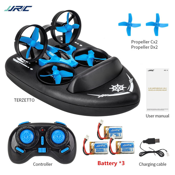 JJRC H36F 3in1 Mini Drone RC Drone Quadcopter/Vehicle/Hovercraft Boat Kids Toys For Sea Land and Air Dron