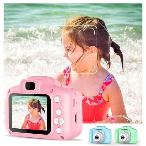 2 Inch HD Screen Chargable Digital Mini Kids Cartoon Cute Camera Toys Outdoor Photography Props Child Birthday Gift