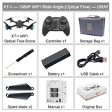 XT-1 Foldable FPV Selfie Drone 720P 1080P WIFI HD Camera Wide Angle