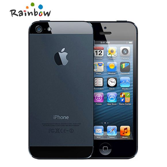 Original iPhone 5 Dual-core 1G RAM 16GB/32GB/64GB ROM 4.0 inches 8MP Camera WIFI GPS Cell