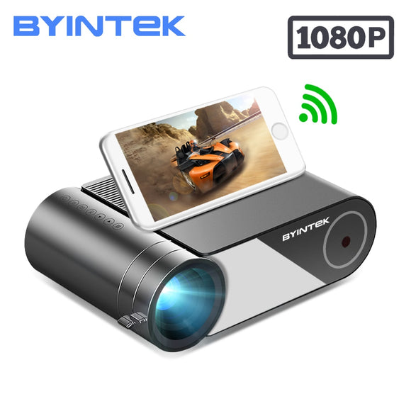 BYINTEK K9 Mini Projector,HD 720P 1080P LED Portable Micro Home Theater