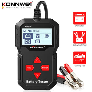 KONNWEI KW210 automatic 12V Car Battery Analyzer 100 to 2000CCA Cranking Car Battery-Tester