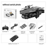 Mini RC Drone w/ 4K 1080P HD Camera WiFi FPV UAV Aerial Photography Helicopter Foldable LED Light Quadcopter RC
