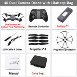 Visuo XS816 RC Drone with 50 Times Zoom WiFi FPV 4K Dual Camera Optical Flow Quadcopter Foldable Selfie Dron VS SG106 M70
