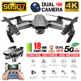 ZLRC SG907 GPS Drone with 4K HD Dual Camera Wide Angle Anti-shake WIFI FPV RC Quadcopter Foldable Drones Professional Follow Me