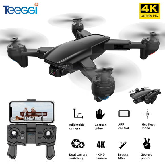 Teeggi SG701 SG701S GPS RC Drone with 5G WiFi FPV 4K HD Camera Quadcopter Optical Flow Foldable Mini