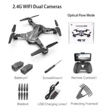 A19 Drone GPS 4K 5G Optical Flow WiFi FPV with HD Dual Camera Foldable RC Quadcopter Gesture Take Pictures Altitude Hold