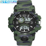 SYNOKE New Products Cross Border Hot Selling Men Sports Electronic Watch Multi-functional Outdoor Big Screen Dual Display