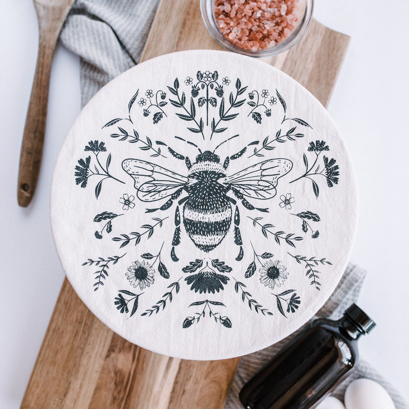 Bee Fabric Bowl Cover - Large