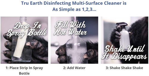Disinfecting Multi-Surface Cleaner Strips