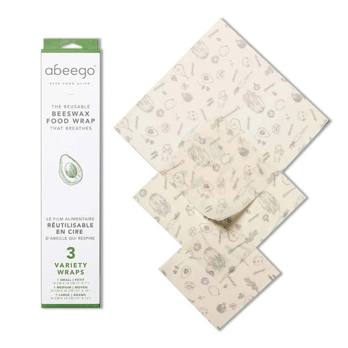 Abeego Beeswax Reusable Food Wraps