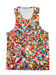 Sprinkles Rainbow Birthday Foodie Premium Tank Top