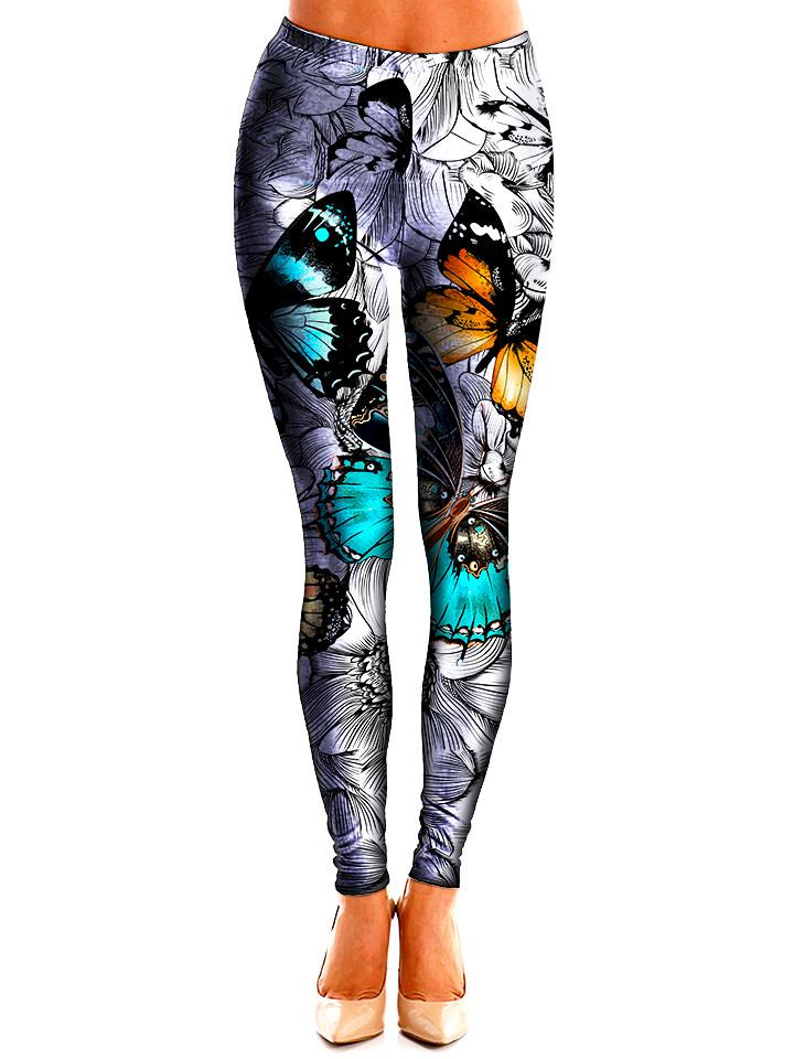 All Around Butterfly Leggings Front View