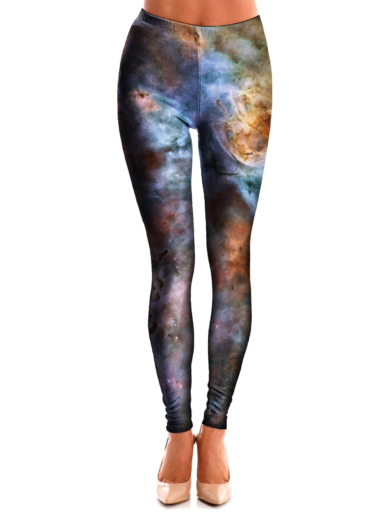Abstracted Nebula Space Leggings - GratefullyDyed - 1