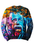 Back view of psychedelic graffiti pullover sweat shirt.