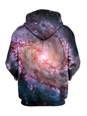 Trippy Zip Up Space Hoodie Print