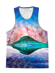 Alien Rockies Mountain Galaxy Premium Tank Top