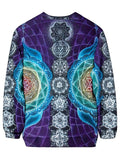 Back view of psychedelic visionary art pullover sweat shirt.