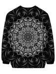 Beautiful Black And White Mandala Sweater Back View