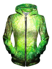 Beautiful Bright Green Womens Zip Up