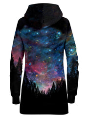 Space Hoodie Dress All Over Print Back View
