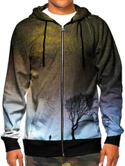 Beautiful Space Zip Up Hoodie Front View
