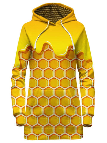 Yellow Honey Hoodie Dress Front View
