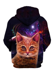 Space Cat Pullover Art Hoodie - GratefullyDyed - 2