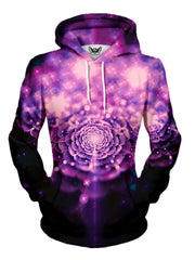 pretty pink trippy flower art hoodie print