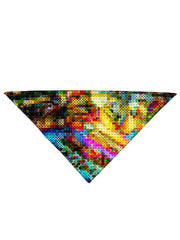Diagonally folded psychedelic LSD culture printed headband.