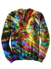 Back view of psychedelic LSD culture pullover sweat shirt.