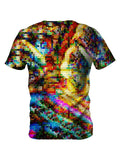 Back view of all over print psychedelic LSD culture t shirt by Gratefully Dyed Apparel.