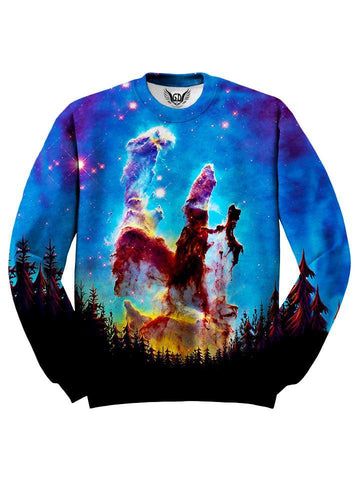Blue Galaxy And Trees Sweater Front View