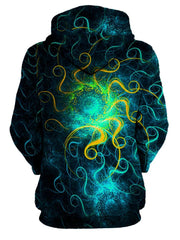 Trippy Beautiful Space Swirls Pullover Hoodie Womens Back View