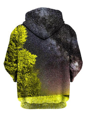 Back view of space & tree hoody by Gratefully Dyed Apparel.