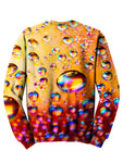 Back view of psychedelic bubble pullover sweat shirt.