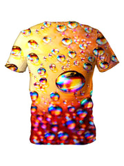 Back view of all over print psychedelic bubble t shirt by Gratefully Dyed Apparel.