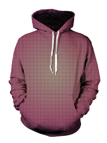 psychedelic pattern hoodie - best music festival clothing