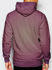 mens music festival hoodie - purple and yellow fade pattern