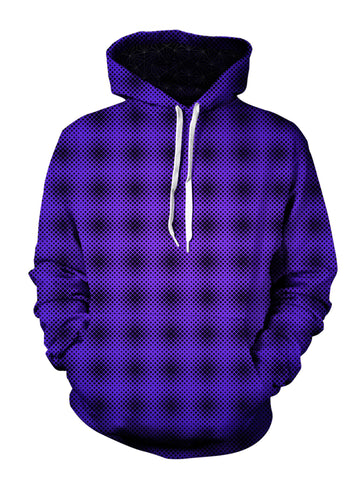 mens front view purple pattern hoodie - festival clothing