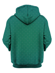 psychedelic green fade pullover hoodie - festival clothing