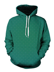 trippy green fade pattern hoodie - festival pullover