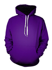Purple fade pattern hoodie - unisex festival clothing
