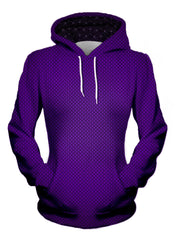 womens front view of purple fade hoodie - edm festival clothing