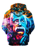 Colorful Albert Einstein Pullover Hoodie Back View