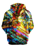 Multi Colored Dotted Pullover Hoodie Back View