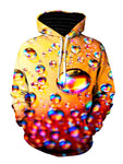 Ombre Bubble Pullover Hoodie Front View