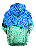 Blue Dippin Dots All Over Print Pullover Hoodie Back View